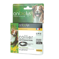 Collier antiparasitaire naturel grand chien - Anibiolys  - 15-30Kg