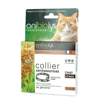 Collier Antiparasitaire Naturel Pour Chat Anibiolys